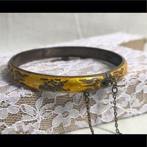 🔆 Vintage Siam sterling bangle bracelet